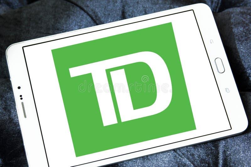 Λογότυπο τράπεζας του TD στοκ εικόνες