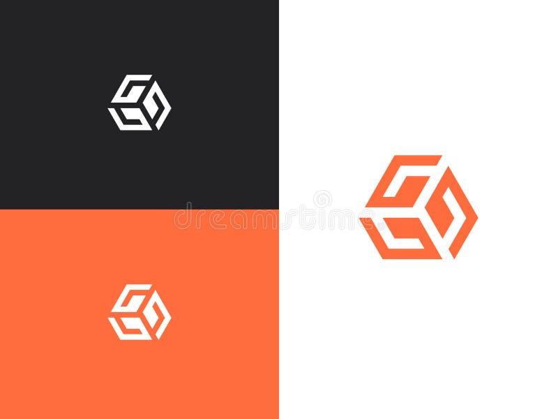 Λογότυπο τρία γράμματα Γ Αρχικά, πρότυπο σχεδίου εικονιδίων ελεύθερη απεικόνιση δικαιώματος