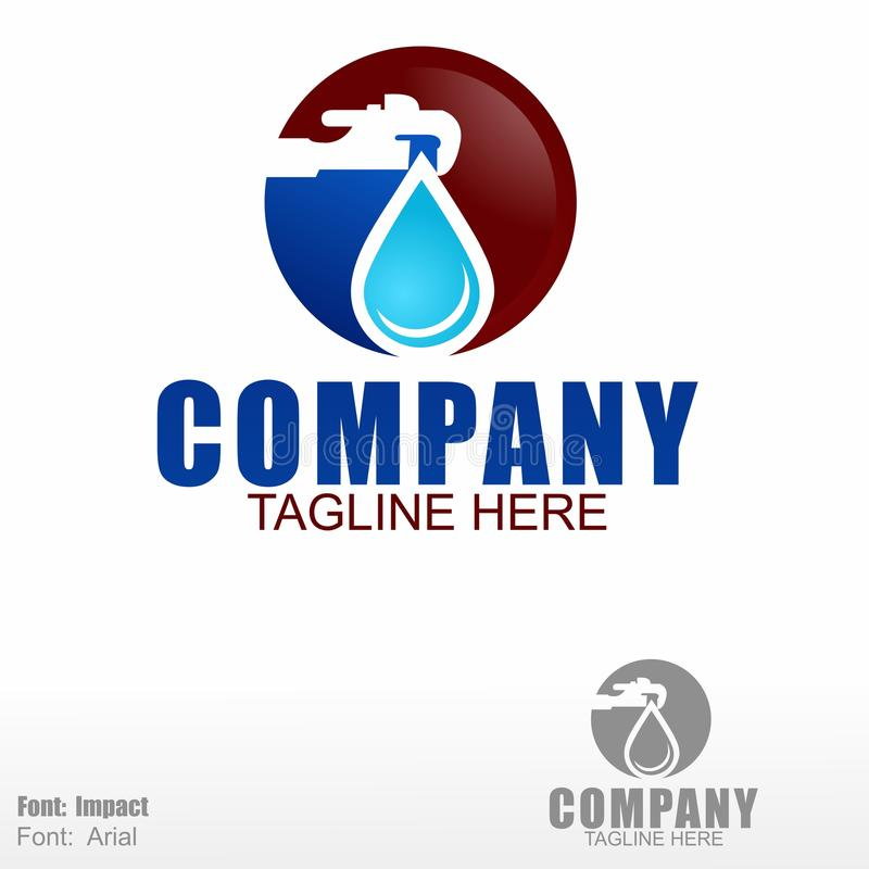 Λογότυπο υδραυλικών εγκαταστάσεων