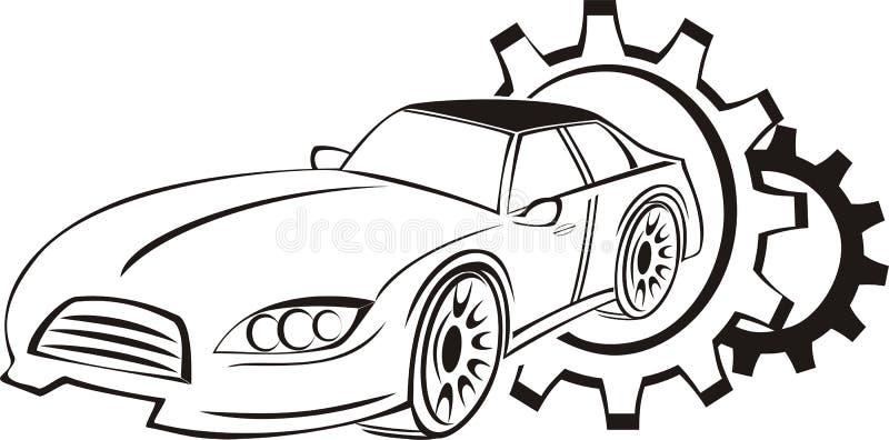 Λογότυπο υπηρεσιών αυτοκινήτων στοκ εικόνα με δικαίωμα ελεύθερης χρήσης