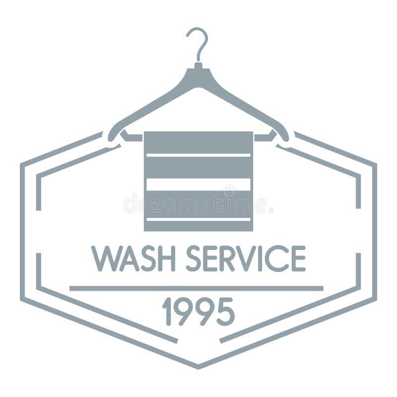 Λογότυπο υπηρεσιών πλυσίματος, απλό γκρίζο ύφος ελεύθερη απεικόνιση δικαιώματος