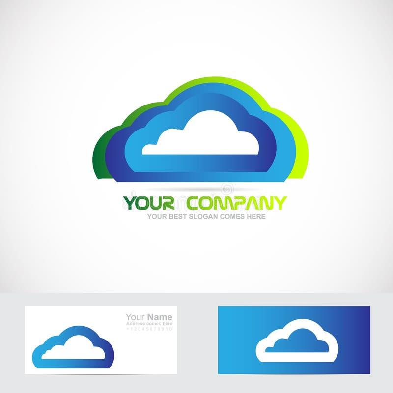 Λογότυπο υπολογισμού σύννεφων απεικόνιση αποθεμάτων