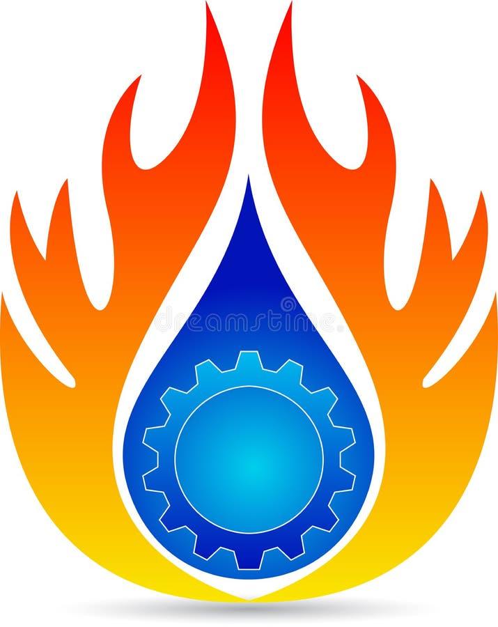 Λογότυπο υδραυλικών ελεύθερη απεικόνιση δικαιώματος