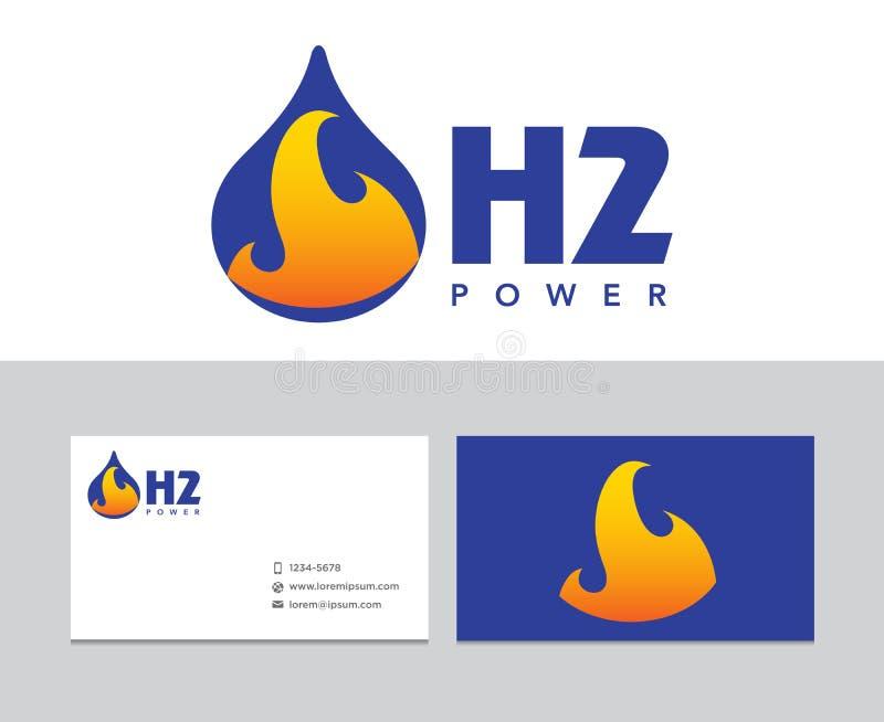 Λογότυπο υδρογόνου ελεύθερη απεικόνιση δικαιώματος