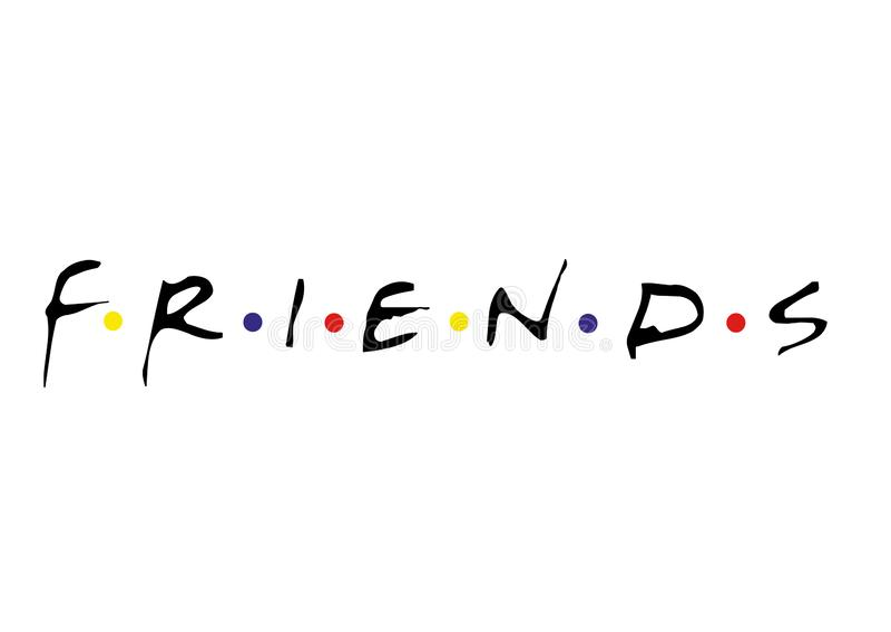 Λογότυπο φίλων διανυσματική απεικόνιση
