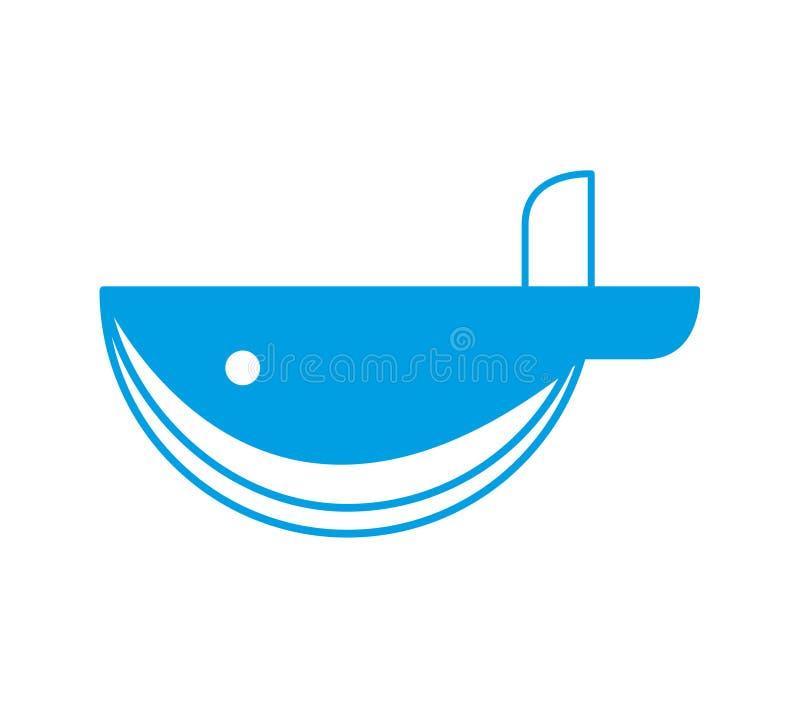 Λογότυπο φαλαινών διανυσματική απεικόνιση