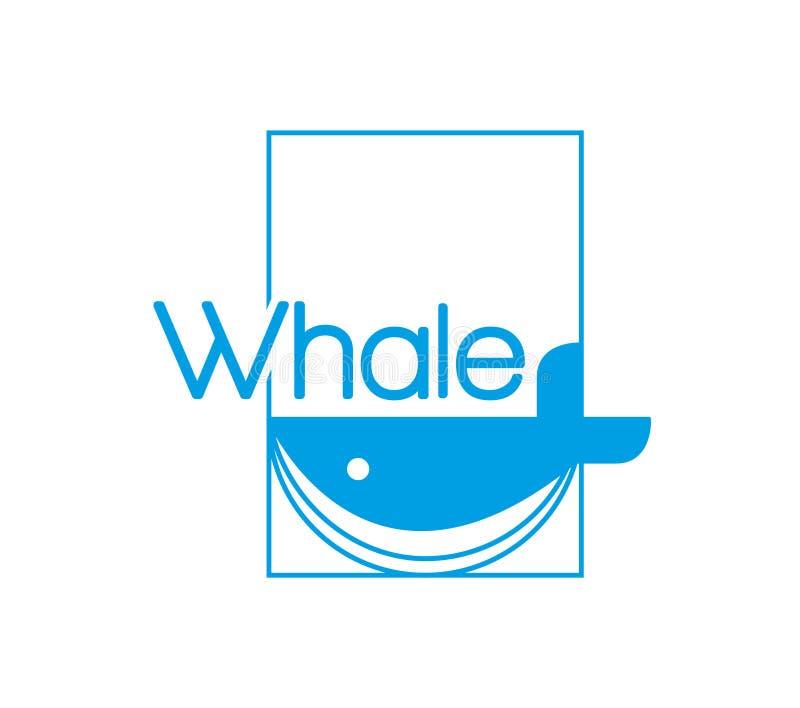 Λογότυπο φαλαινών ελεύθερη απεικόνιση δικαιώματος