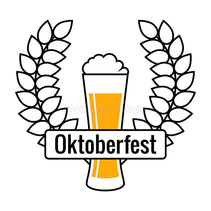 Λογότυπο φεστιβάλ μπύρας, απομονωμένο διανυσματικό σημάδι στοκ εικόνα με δικαίωμα ελεύθερης χρήσης