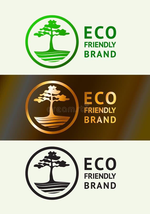 Λογότυπο φιλικό προς την οικολογία ελεύθερη απεικόνιση δικαιώματος