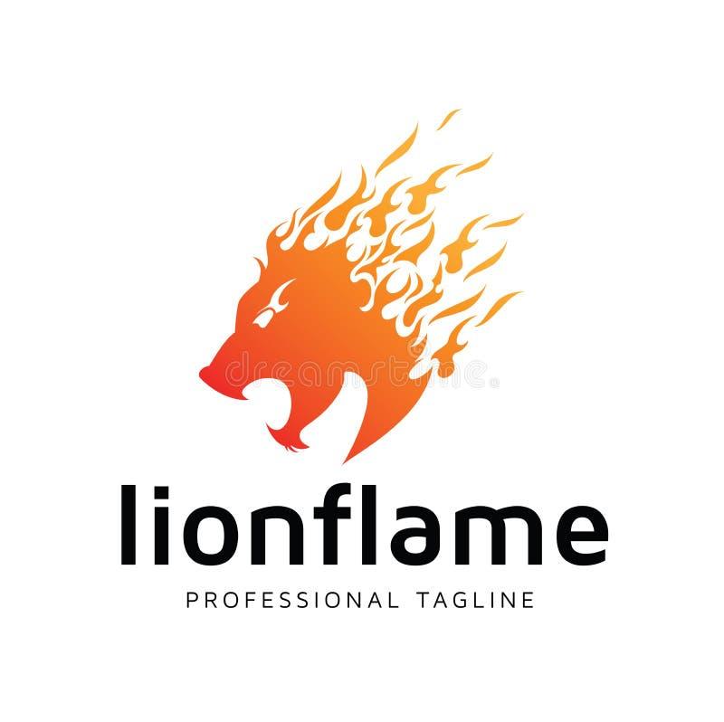 Λογότυπο φλογών λιονταριών για την επιχειρησιακή χρήση απεικόνιση αποθεμάτων