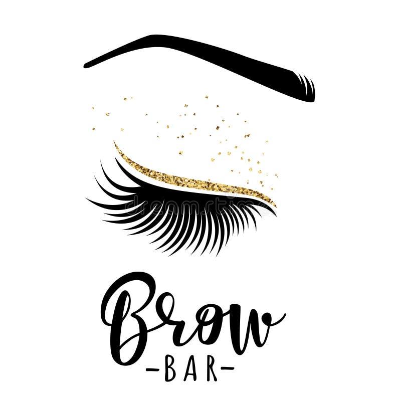 Λογότυπο φραγμών Brow διανυσματική απεικόνιση