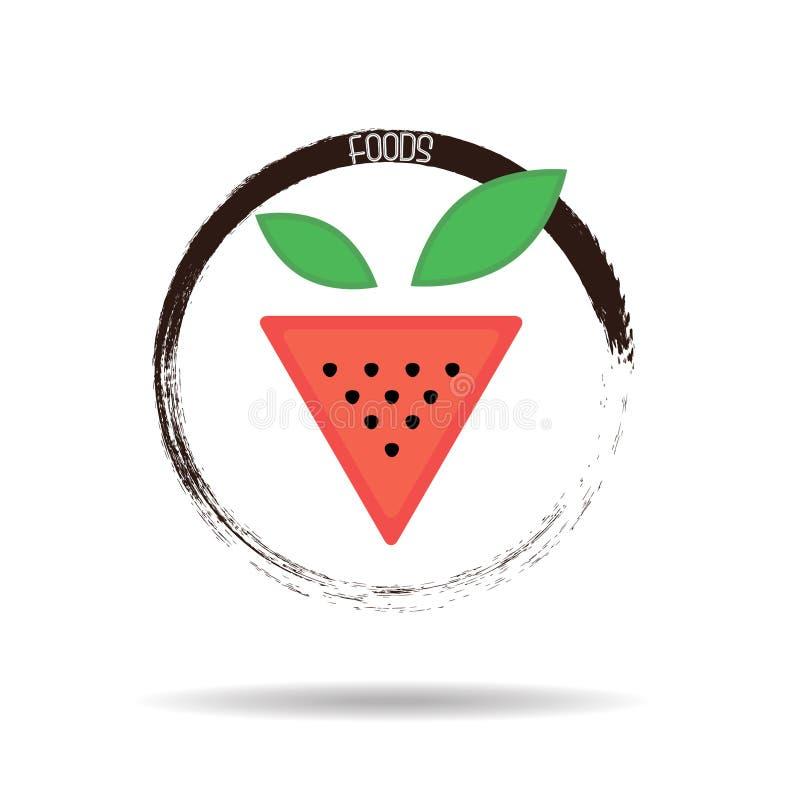 Λογότυπο φραουλών στοκ φωτογραφίες με δικαίωμα ελεύθερης χρήσης