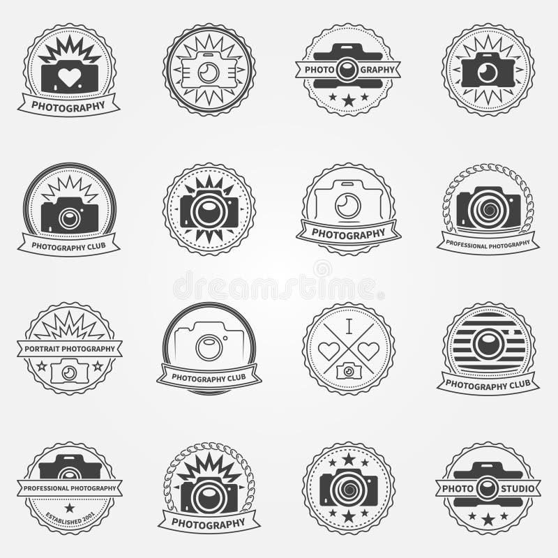 Λογότυπο φωτογραφίας ή πρότυπα ετικετών διανυσματική απεικόνιση