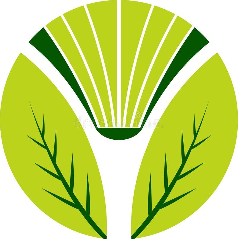 λογότυπο φύλλων βιβλίων διανυσματική απεικόνιση