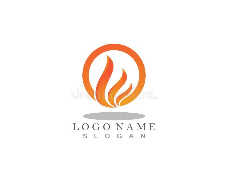 Λογότυπο φύσης φλογών πυρκαγιάς και πρότυπο εικονιδίων συμβόλων ελεύθερη απεικόνιση δικαιώματος