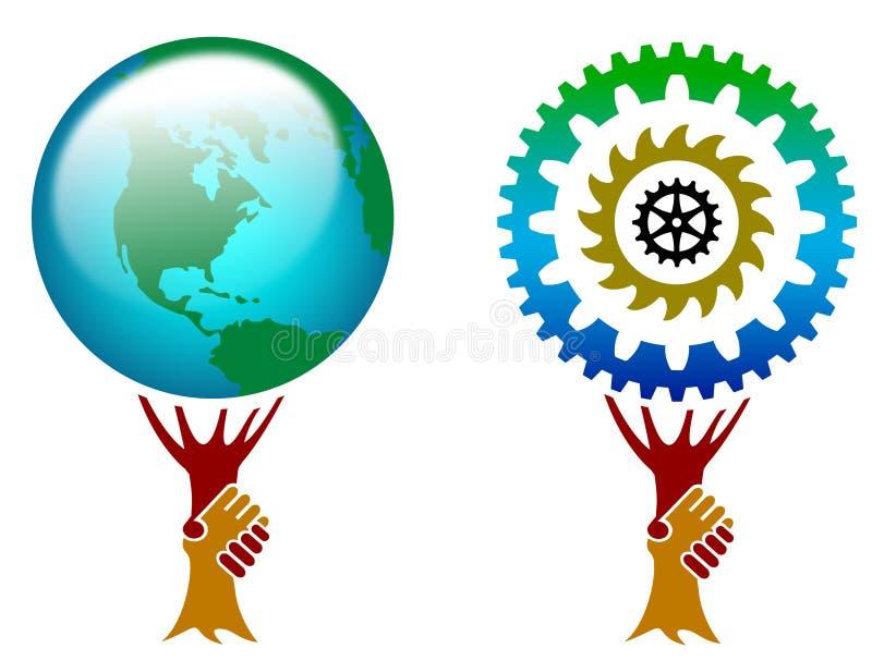 Λογότυπο χειραψιών απεικόνιση αποθεμάτων
