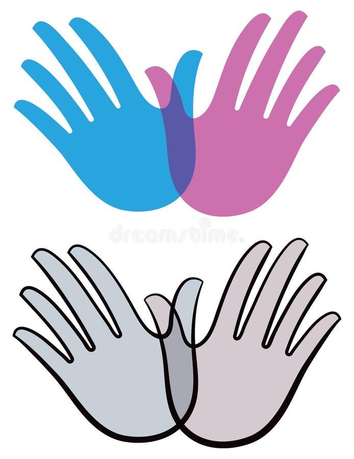 Λογότυπο χεριών πουλιών διανυσματική απεικόνιση