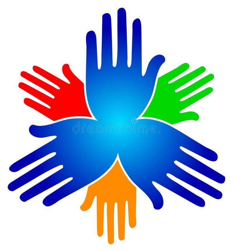 λογότυπο χεριών διανυσματική απεικόνιση