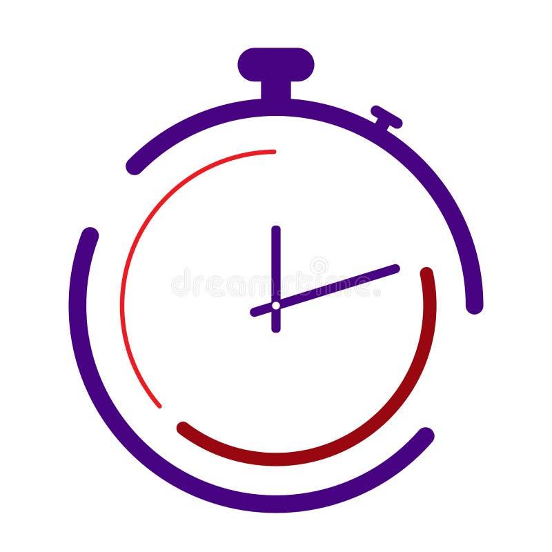 Λογότυπο χρονομέτρων με διακόπτη αθλητισμός, ανταγωνισμός και χρόνος διανυσματική απεικόνιση