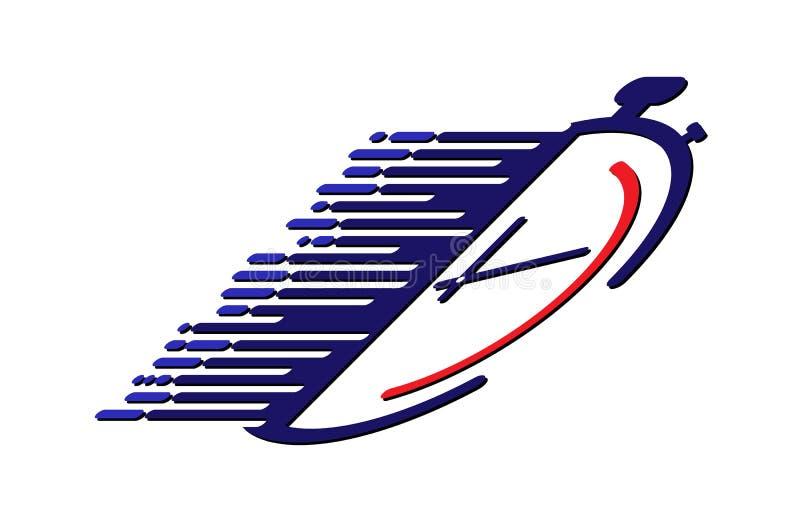 Λογότυπο χρονομέτρων με διακόπτη αθλητισμός, ανταγωνισμός και χρόνος ελεύθερη απεικόνιση δικαιώματος