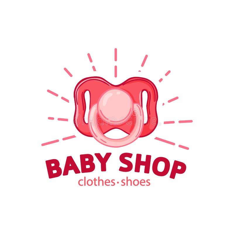 Λογότυπο χρώματος σχεδίου Templae για το κατάστημα μωρών Σύμβολο, ετικέτα και διακριτικό για το κατάστημα παιδιών με τη νεογέννητ ελεύθερη απεικόνιση δικαιώματος