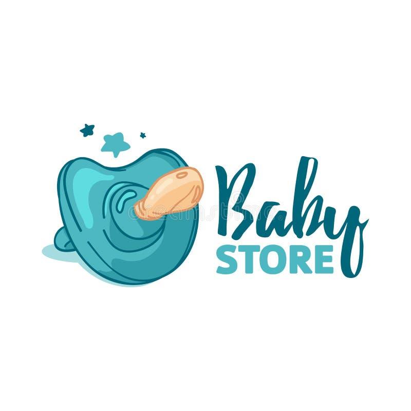 Λογότυπο χρώματος σχεδίου Templae για το κατάστημα μωρών Σύμβολο, ετικέτα και διακριτικό για το κατάστημα παιδιών με τη νεογέννητ απεικόνιση αποθεμάτων