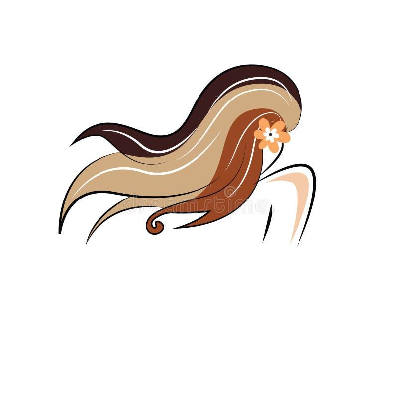 Λογότυπο χρώματος τρίχας γυναικών ` s ομορφιάς στοκ φωτογραφίες