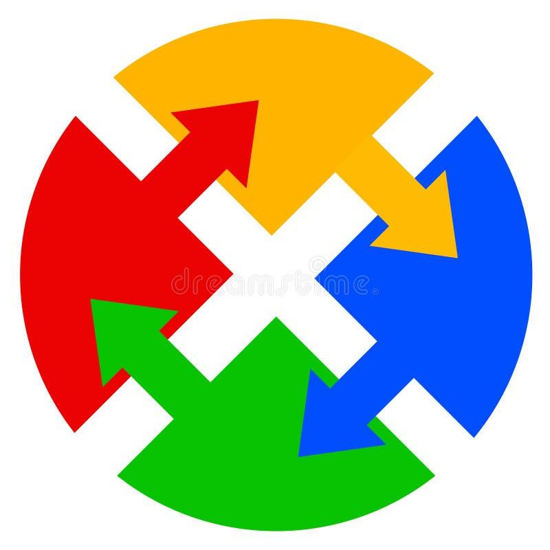 λογότυπο χρώματος απεικόνιση αποθεμάτων