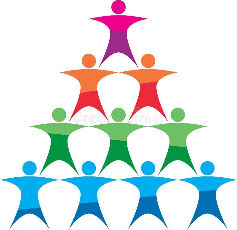 Λογότυπο χτισίματος ομάδας απεικόνιση αποθεμάτων