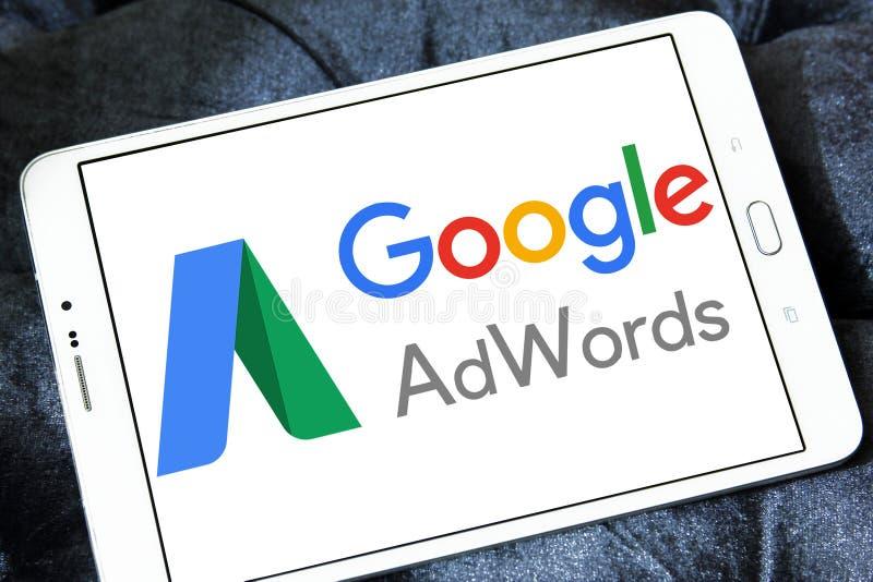 Λογότυπο AdWords Google στοκ εικόνα με δικαίωμα ελεύθερης χρήσης
