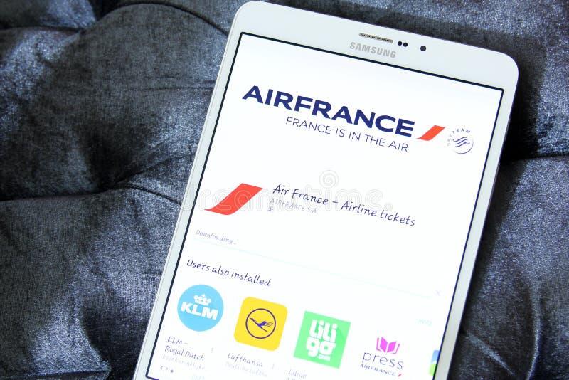 Λογότυπο Air France app στοκ εικόνα με δικαίωμα ελεύθερης χρήσης
