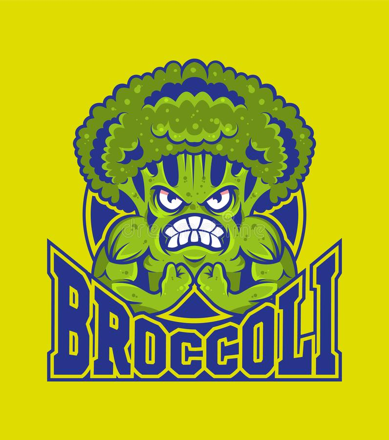 Λογότυπο Brocoli διανυσματική απεικόνιση