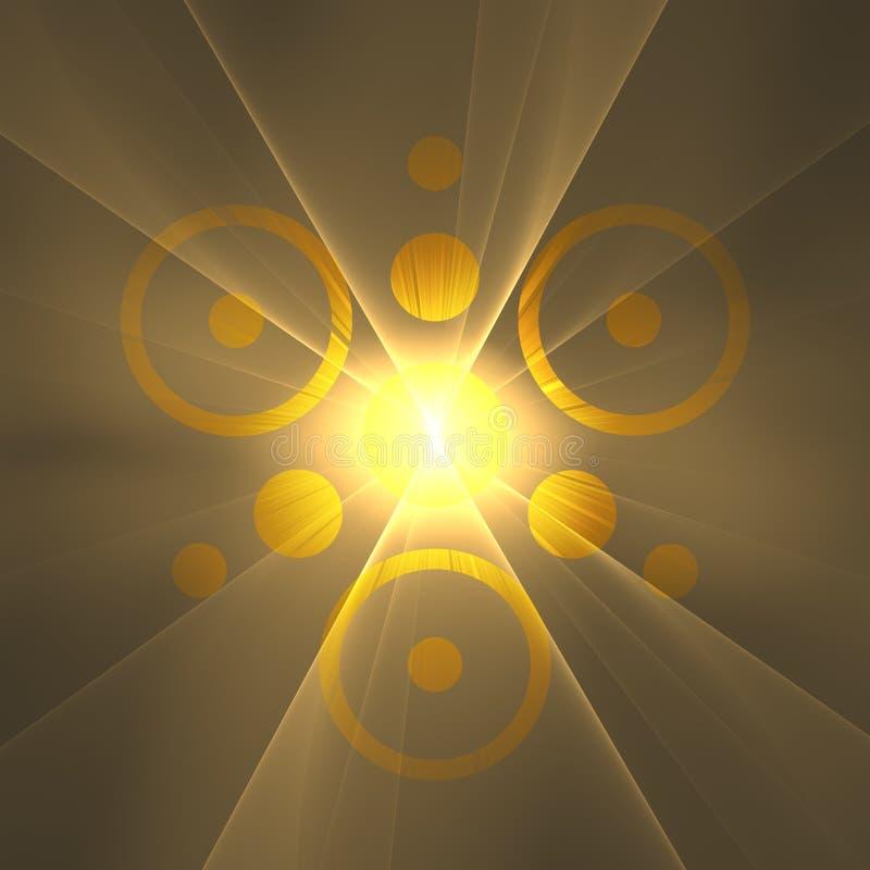 Λογότυπο Caveman κολλοειδούς διαλύματος Θεών [μάτι του RA] | Fractal ταπετσαρία υποβάθρου τέχνης ελεύθερη απεικόνιση δικαιώματος