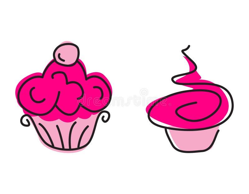 Λογότυπο CupCake ελεύθερη απεικόνιση δικαιώματος