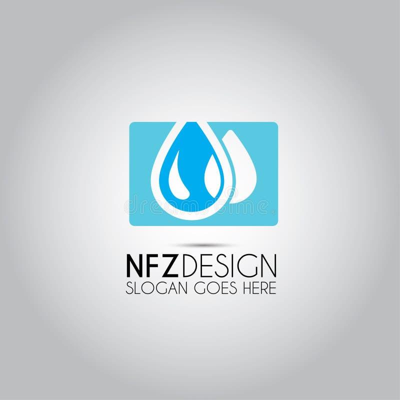 Λογότυπο Eco νερού πτώσης ελεύθερη απεικόνιση δικαιώματος