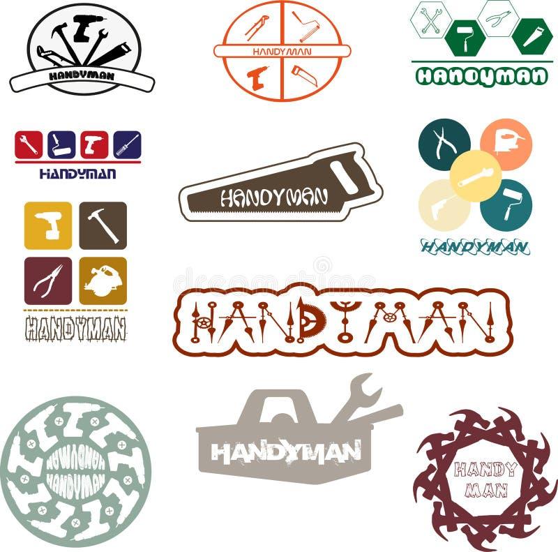 Λογότυπο Handyman για τη διασκέδαση και την ευχαρίστηση στοκ φωτογραφία με δικαίωμα ελεύθερης χρήσης