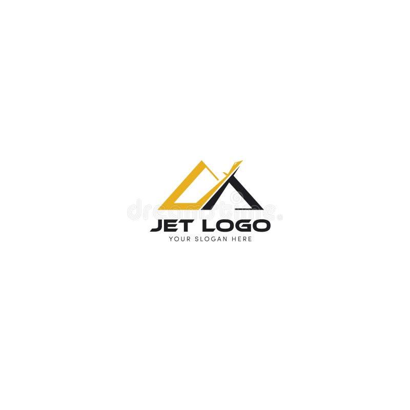 Λογότυπο Jet με 2 βουνά και λήψη στη μέση διανυσματική απεικόνιση