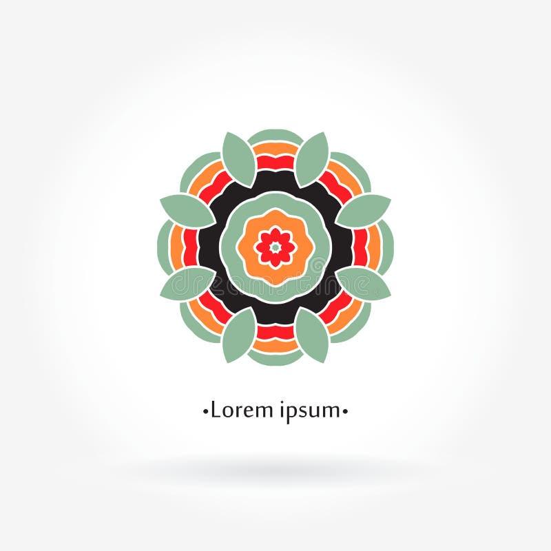Λογότυπο Mandala Εικονίδια, επιχείρηση και προσκλήσεις Αναδρομικό λογότυπο λουλουδιών ελεύθερη απεικόνιση δικαιώματος