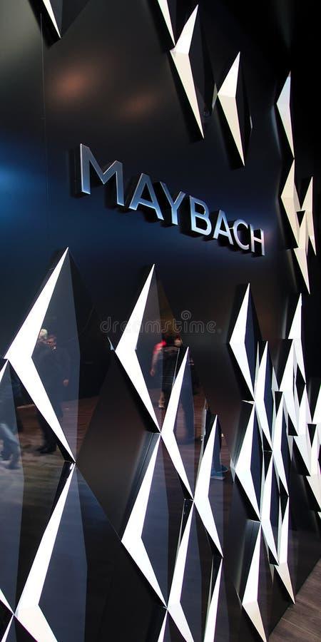 Λογότυπο Maybach στον τοίχο στοκ φωτογραφία με δικαίωμα ελεύθερης χρήσης