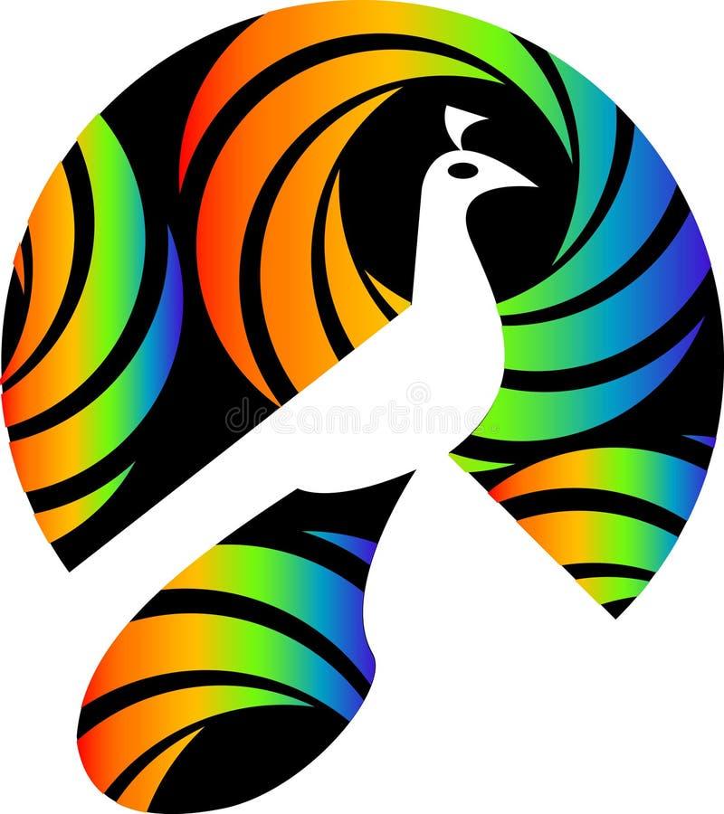 λογότυπο peacock απεικόνιση αποθεμάτων