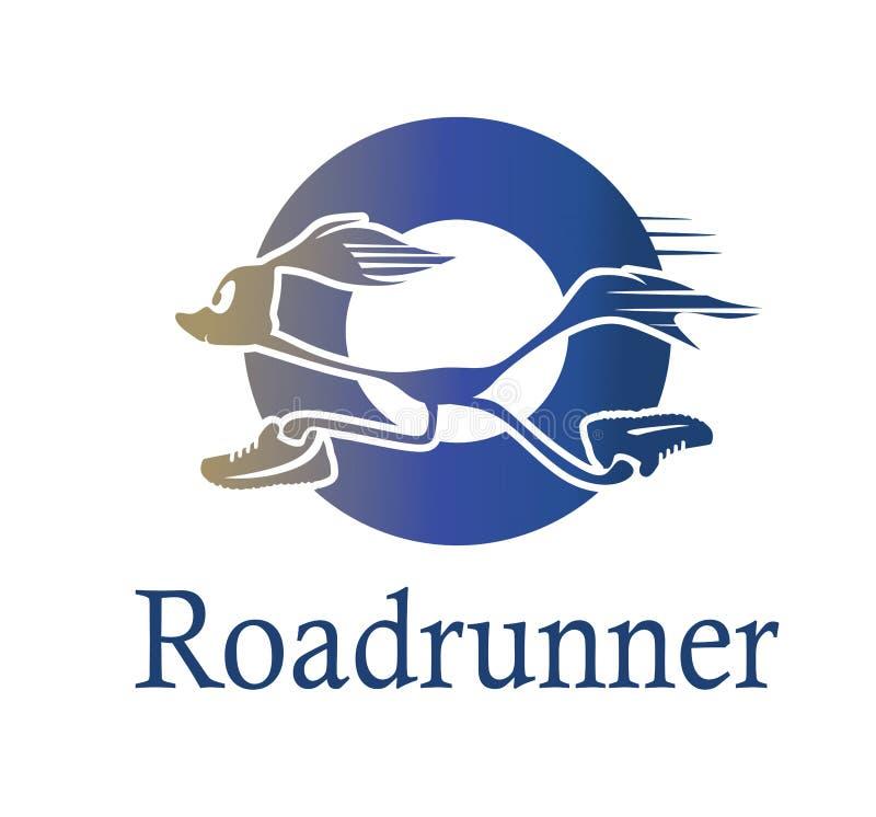 Λογότυπο Roadrunner στον μπλε κύκλο ελεύθερη απεικόνιση δικαιώματος