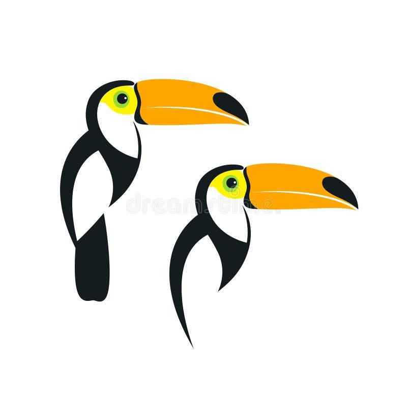 Λογότυπο Toucan Απομονωμένος toucan στο άσπρο υπόβαθρο απεικόνιση αποθεμάτων