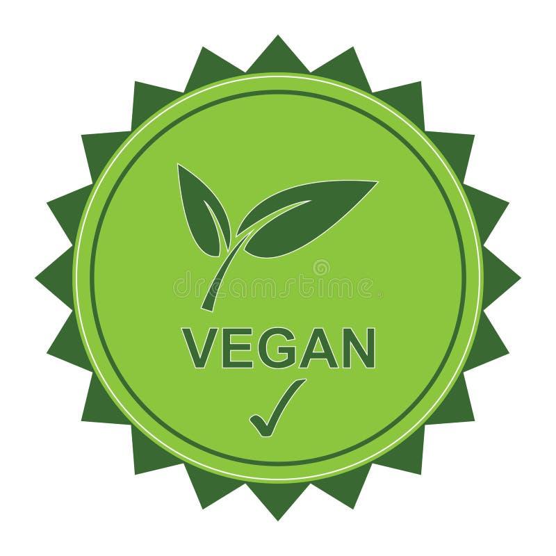 Λογότυπο Vegan διανυσματική απεικόνιση