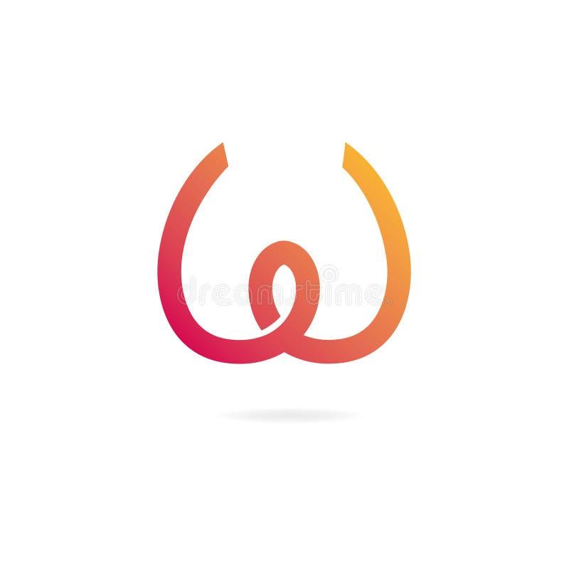 λογότυπο W επιστολών στοιχεία προτύπων σχεδίου ελεύθερη απεικόνιση δικαιώματος