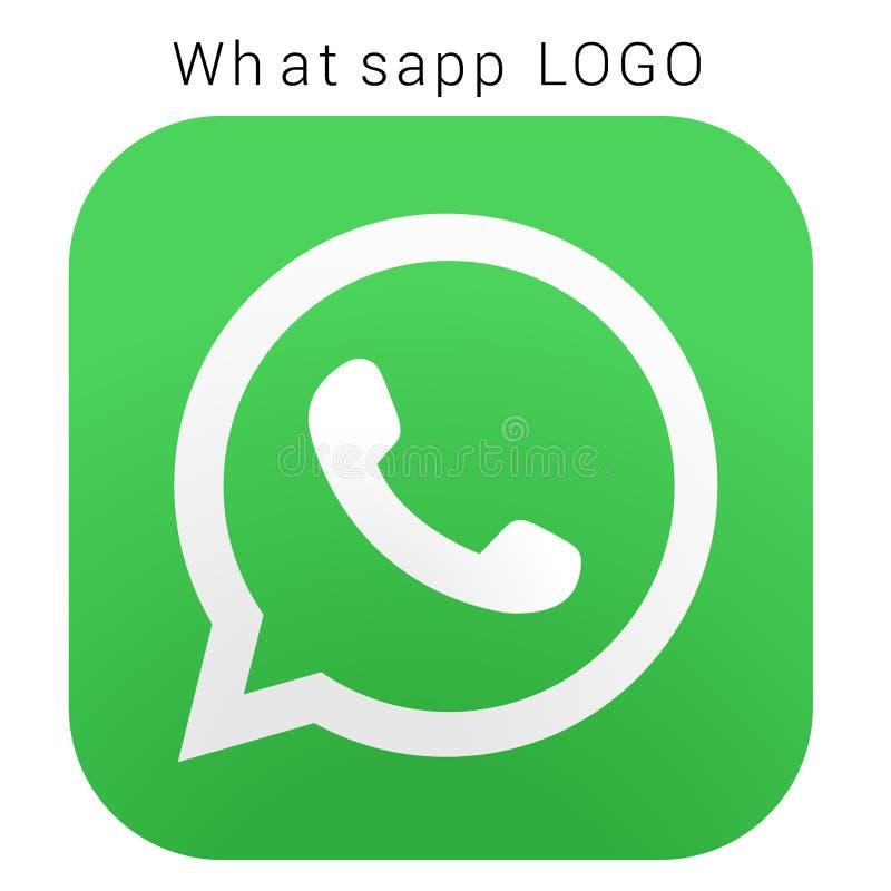 Λογότυπο WhatsApp με το διανυσματικό αρχείο AI Τακτοποιημένος χρωματισμένος στοκ εικόνα με δικαίωμα ελεύθερης χρήσης