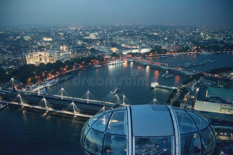 Λονδίνο από το μάτι του Λονδίνου στοκ εικόνες με δικαίωμα ελεύθερης χρήσης