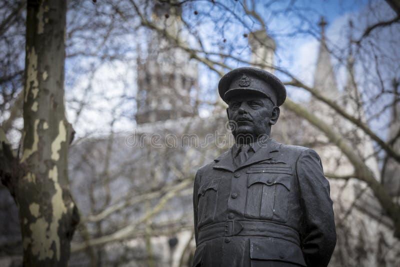 Λονδίνο, μεγαλύτερο Λονδίνο, στις 7 Φεβρουαρίου 2019, λεπτομέρεια του αγάλματος για να τιμήσει την μνήμη των harris αρθούρου της  στοκ εικόνες