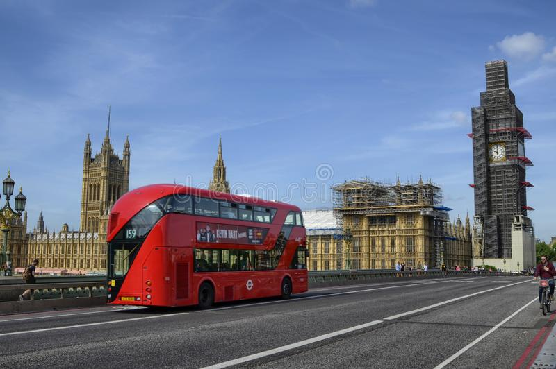 Λονδίνο, σπίτια του Κοινοβουλίου και Big Ben στοκ φωτογραφίες