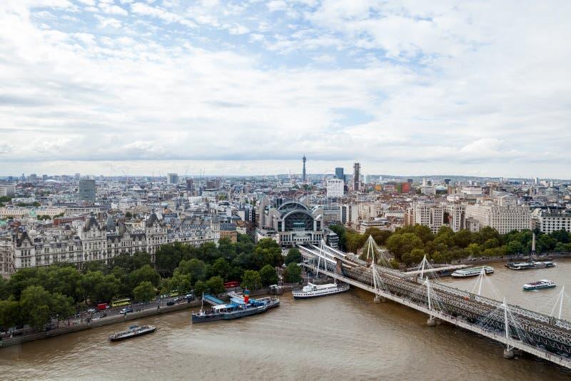 22 07 2015, ΛΟΝΔΙΝΟ, UK Άποψη του Λονδίνου από το μάτι του Λονδίνου στοκ εικόνες
