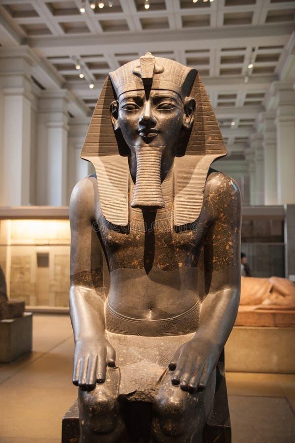 Λονδίνο Βρετανική αίθουσα γλυπτών μουσείων αιγυπτιακή, Pharaoh Rameses στοκ εικόνες